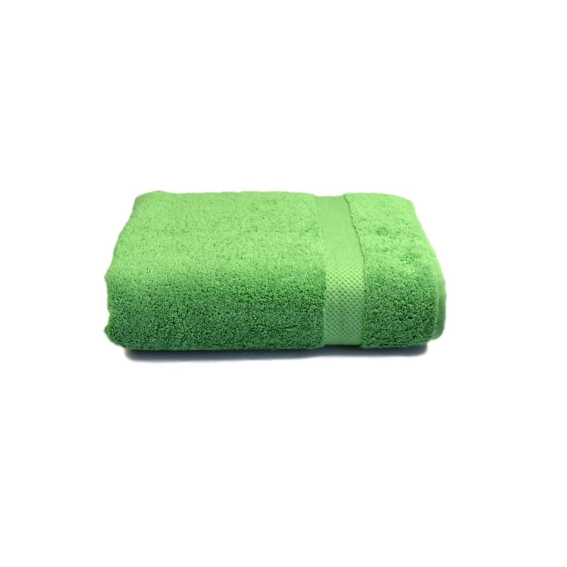 Ткани махровые полотенца - Полотенце махровое зеленое  70х140 см