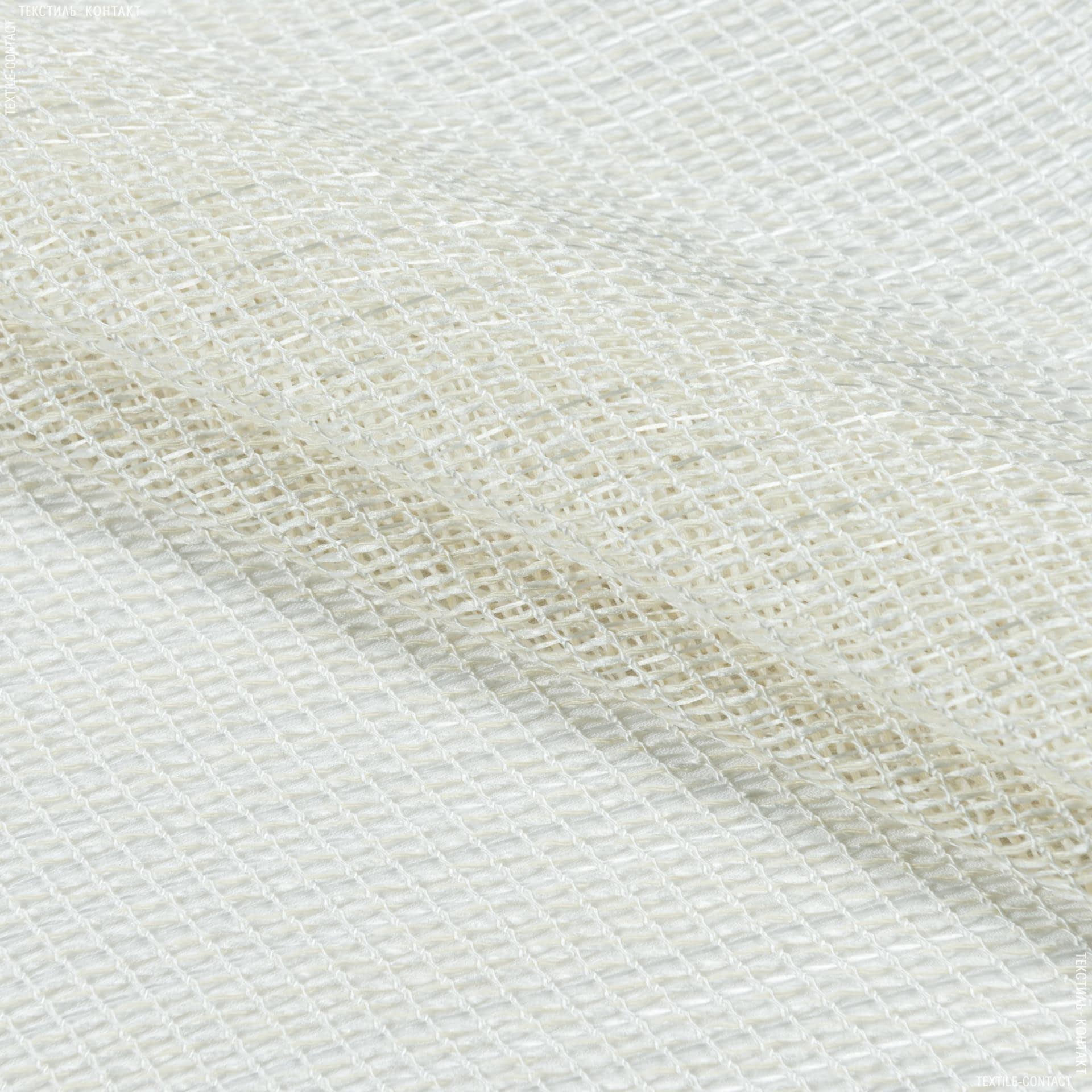 Тканини для рукоділля - Тюль сітка з обважнювачем АФРА крем