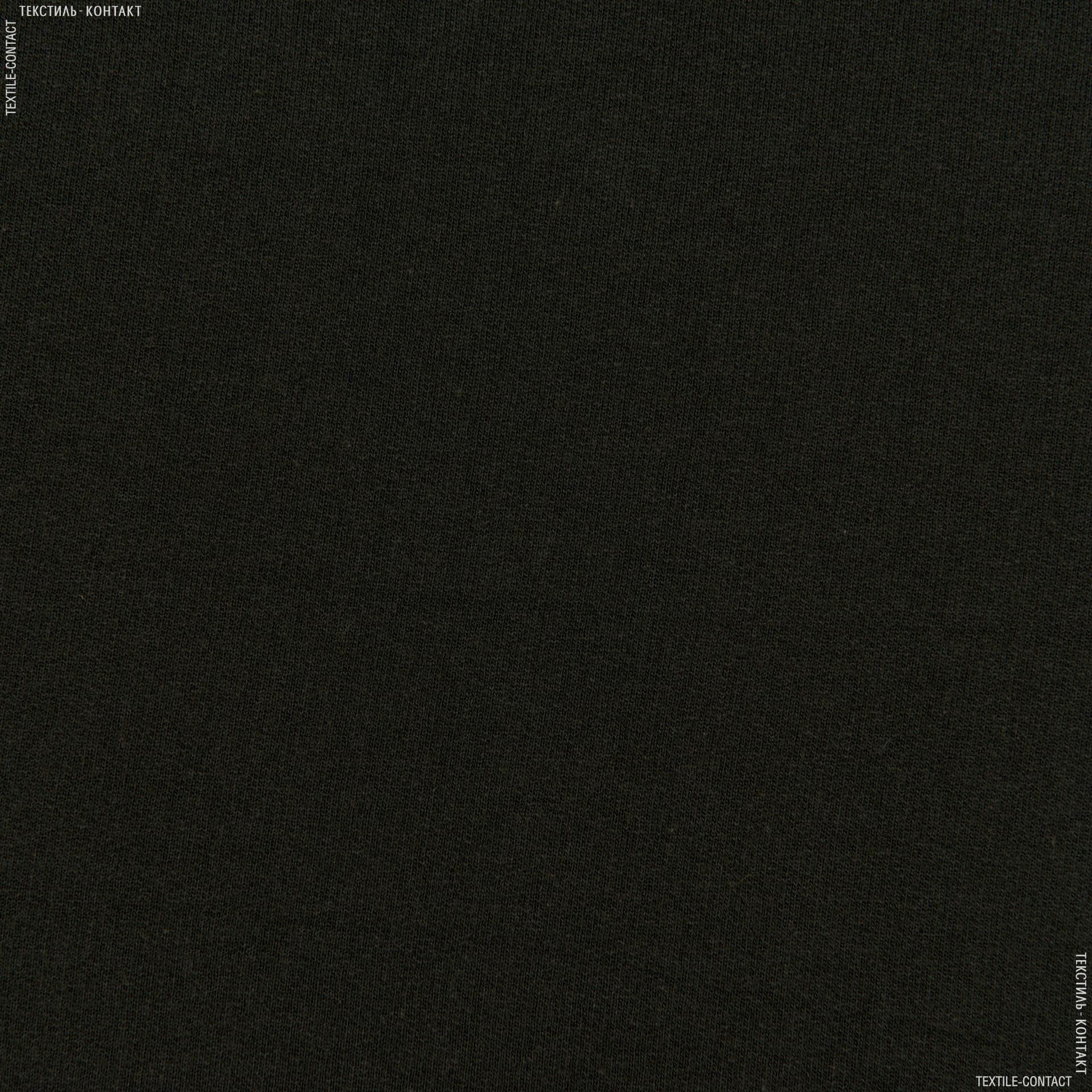 Ткани трикотаж - Футер трехнитка черный